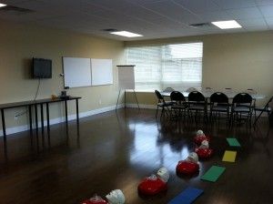 Typical First Aid and CPR Training Room