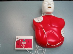 Learning CPR and AED on Manikin